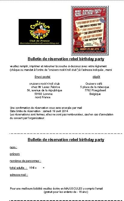 - Rebel birthday party -
