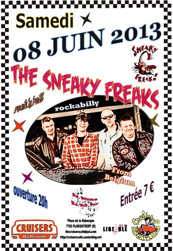 - samedi 08 juin - the Sneaky Freaks live au cruisers cafe -